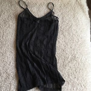 BKE Black Lace Tank Top